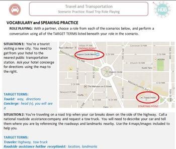 Travel & Transportation (C): Road Trip Role Playing  (Adult ESL)