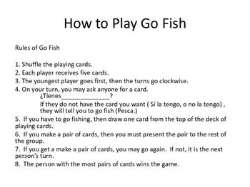 Travel Vocabulary Go Fish Cards