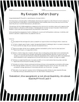 Travel and Tourism - Kenyan Safari Portfolio Assignment