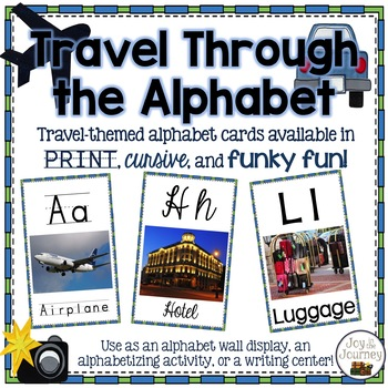 Travel-themed Alphabet Wall Cards
