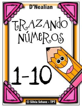 Trazando números en español - D'Nealian