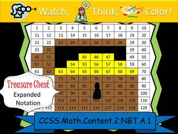 Treasure Chest Expanded Notation - Watch, Think, Color! CC