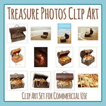 Treasure Chest / Pirate Treasure Photos Clip Art Set for C