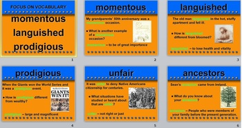 Treasure Curriculum - Vocabulary Unit 2 Week 1