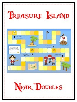 Treasure Island Math Folder Game - Common Core - Adding Ne