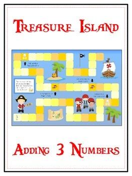 Treasure Island Math Folder Game - Common Core - Adding Th