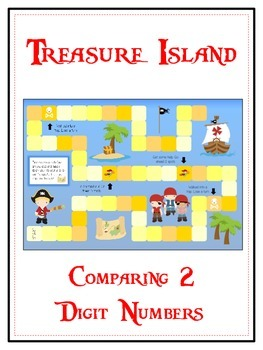 Treasure Island Math Folder Game - Common Core - Comparing