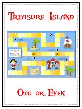 Treasure Island Math Folder Game - Common Core - Even and