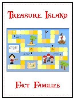 Treasure Island Math Folder Game - Common Core - Fact Families
