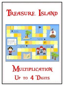 Treasure Island Math Folder Game - Common Core - Multiplic