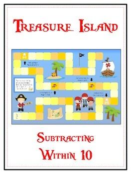 Treasure Island Math Folder Game - Common Core - Subtracti