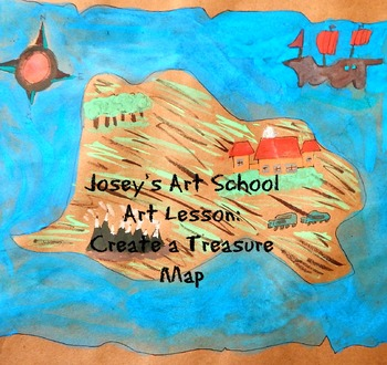 Treasure Maps History Lesson and Art Project