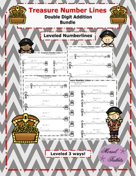 Treasure Number Lines- Double Digit Addition Bundle Plus A