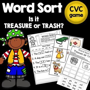 CVC Word Sort Reading & Phonics Game