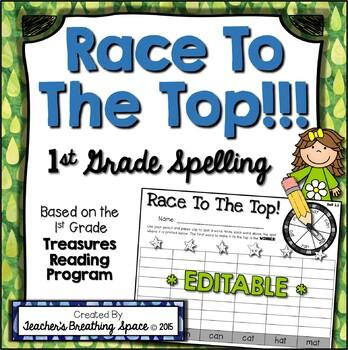 Treasures 1st Grade -- Treasures Spelling Word Game -- Wit