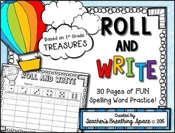 Treasures 1st Grade -- Treasures Spelling Word Roll and Wr