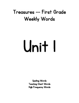Treasures 1st grade Weekly Words Unit 1