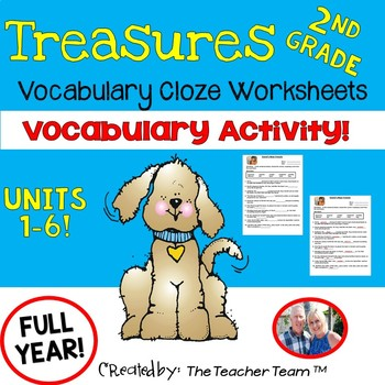 Treasures 2nd Grade Cloze - Fill in the Blank Worksheets U
