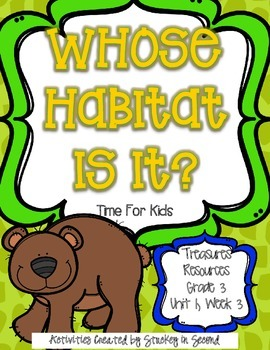 Treasures 3rd Grade - Whose Habitat Is It? - Unit 1, Week 3