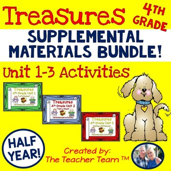 Treasures 4th Grade Bundle Unit 1, 2, 3