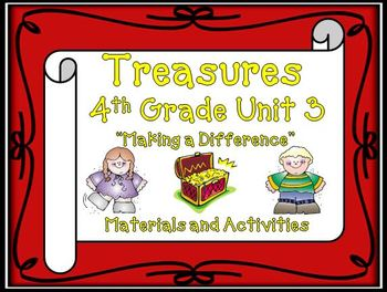 Treasures 4th Grade Unit 3 Bundle