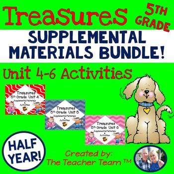Treasures 5th Grade Language Arts Reading Bundle Unit 4-5-6