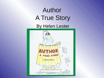 Treasures Author a True Story Vocabulary PowerPoint