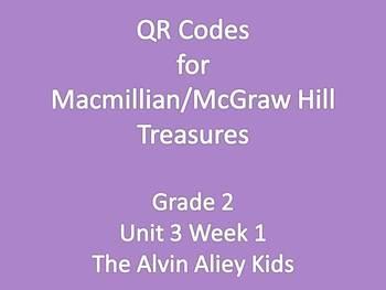 Treasures Grade 2 Unit 3 Week 1 Spelling Word QR Codes