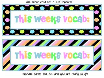 Treasures Grade One Vocabulary Cards