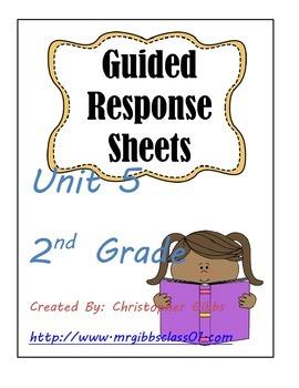 Treasures Guided Response Sheets Unit 5 2nd Grade