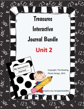 Treasures Interactive Journal Unit 2 Bundle (NOT TEXAS)