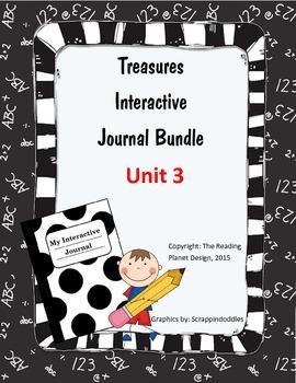 Treasures Interactive Journal Unit 3 Bundle (NOT TEXAS)