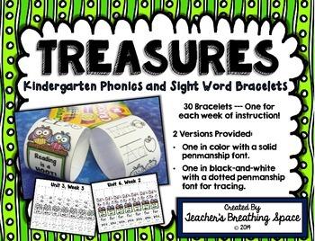 Treasures Kindergarten  --- Weekly Phonics and Sight Word