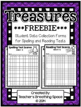 Treasures 2nd Grade - Student Data Forms for Spelling/Read