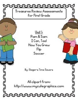 Treasures Review Assessments Unit 1 Bundle - First Grade