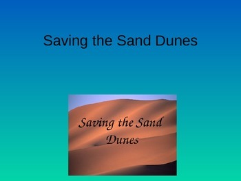 Treasures Saving The Sand Dunes Vocabulary PowerPoint