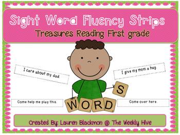 Treasures Sight Word Fluency Strips