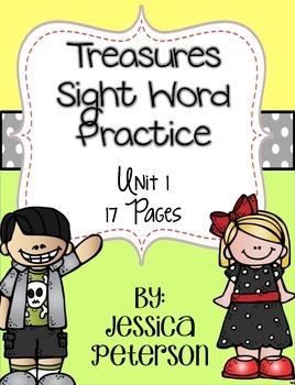Treasures Sight Word Practice Printables Unit 1