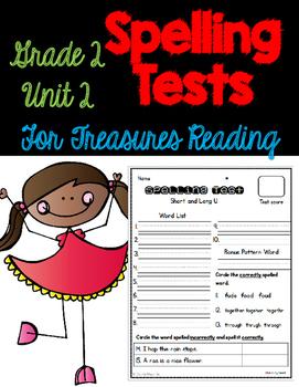 Treasures Spelling Tests Unit 2