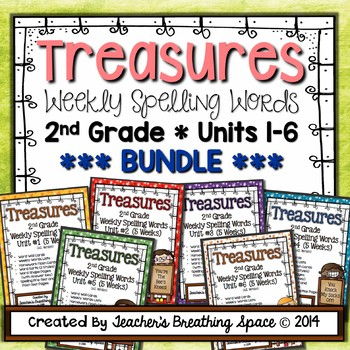 Treasures Spelling Word Lists and Resources --- 2nd Grade,