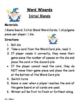 Treasures Unit 1 Week 4 Initial Blends Game