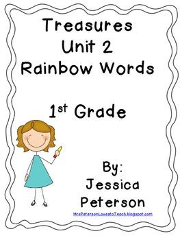 Treasures Unit 2 Rainbow Words/ Spellilng 1st Grade