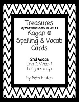 Treasures Unit 2, Week 1 Spelling and Vocab Card