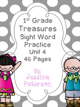 Treasures Unit 4 Sight Word Practice {1st Grade}