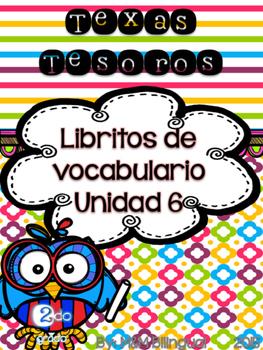 Treasures Vocabulary Flip Books {SPANISH} - 2nd grade Unit 6