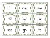 High frequency word cards (kindergarten)