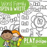 Word Family Worksheets - Spin, Read and Write
