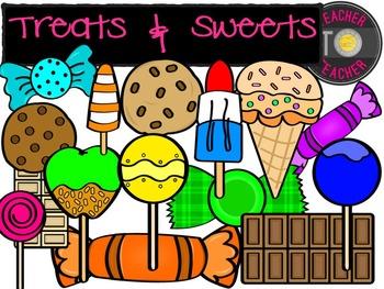 Treats and Sweets {TeacherToTeacher Clipart}