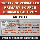 Treaty of Versailles Primary Source Activity