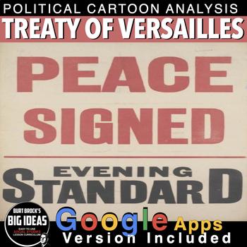 Treaty of Versailles Political Cartoon Analysis for World